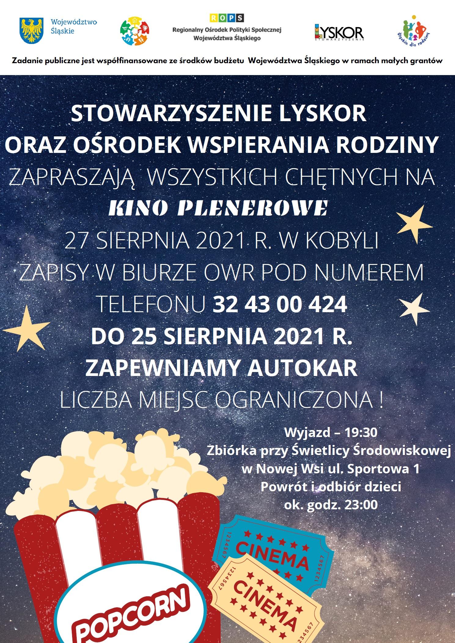 Plakat kino plenerowe