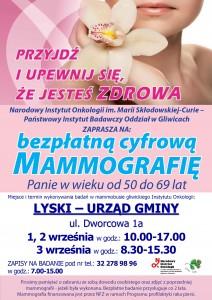 Plakat mammografia 2021